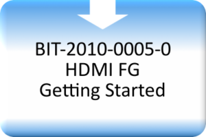 AVBS_BIT-2010-0005-0 HDMI FG Getting Started