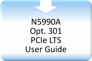 CBS_N5990A Opt. 301 PCIe LTS User Guide